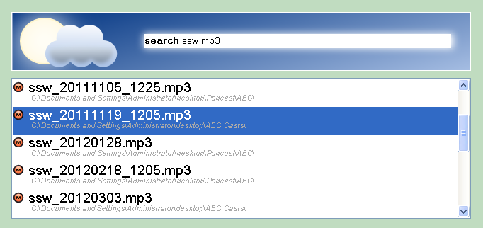 Looking for MP3s...
